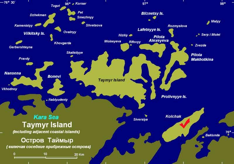 Колчак А.В карта