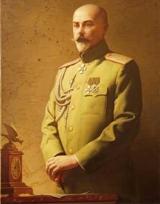 А.И.Деникин, портретработы художника Д. Трофимова