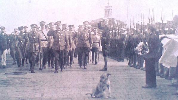 А.И.Деникин в освобождённой Одессе.