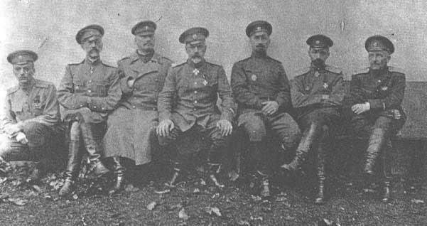 Генералы участники корниловского выступления после ареста.