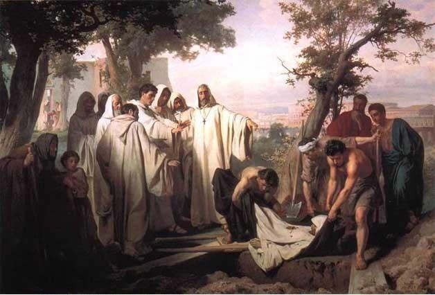 Василий Васильевич Верещагин Святой Григорий проклинает умершего монаха за нарушение обета бессеребрия