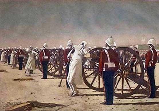 Василий Васильевич Верещагин. Подавление индийского востания англичанами