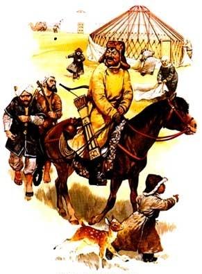 Монгольский лагерь.