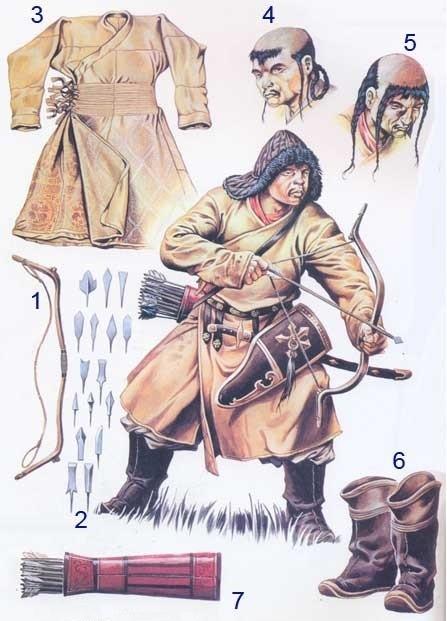 Монгольский лёгкий конный лучник.