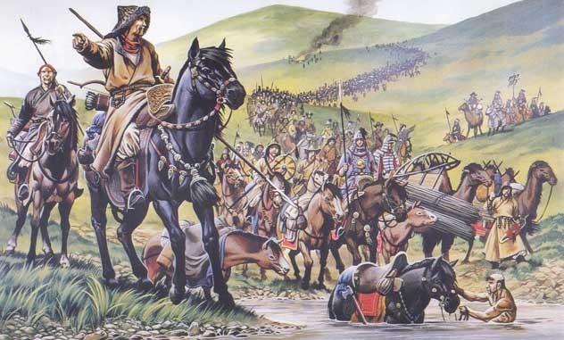 Монгольская армия на марше