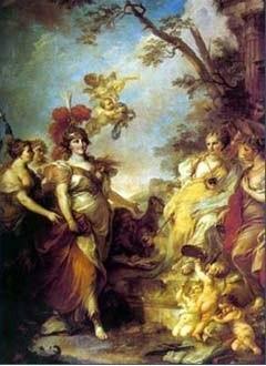 Екатерина II в образе Минервы, покровительницы искусств