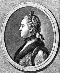 Екатерина II. Гравюра Е.П. Чемесова