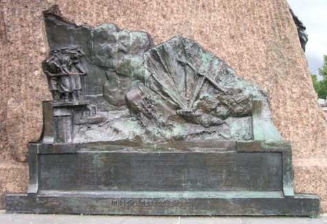 Барельеф гибель «Петропавловска»