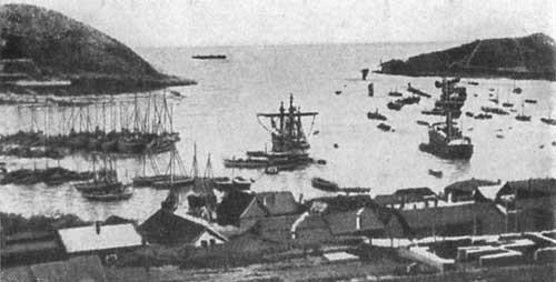 Вход в гавань Порт-Артура.