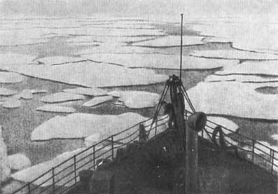 «Ермак» в полярных льдах.