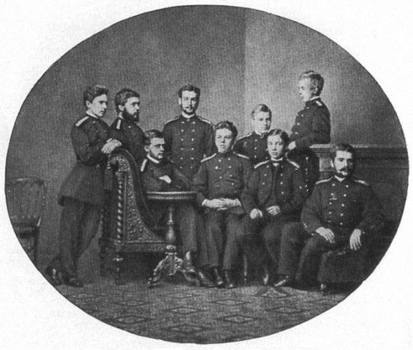 Группа гардемаринов с фрегата «Дмитрий Донской». 1868 год.