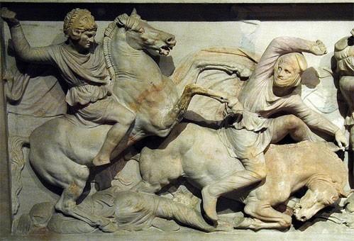 Александр Македонский в шлеме Геракла