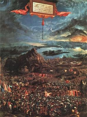 Битва Александра Македонского и Дария III при Иссе.