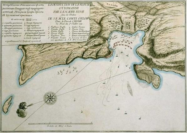 Истребление оттоманского флота при Чесме