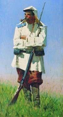 Туркестанский солдат в зимней форме