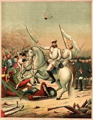 Генерал М.Д. Скобелев на редутах Плевны