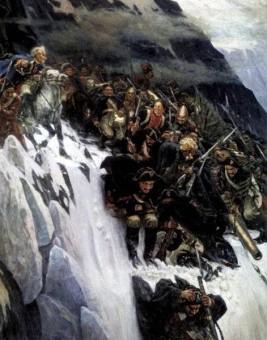 Суворов переход через альпы картина