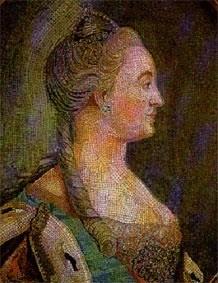 Екатерина II. Мозаика Ломоносовской мастерской