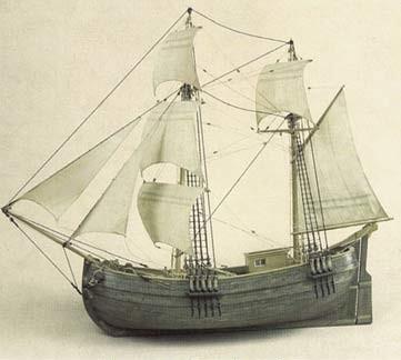 Гукор — рыбацкий корабль (Русский Север, XVIII в.). Модель
