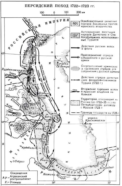 Каспийский (Персидский) поход 1722-1723гг.