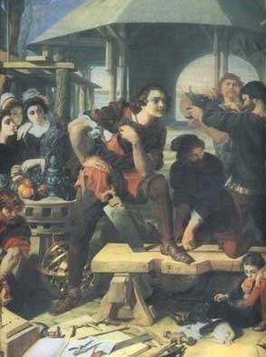 Петр 1 Великий в Голландии
