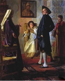 Пётр 1 в иноземном наряде